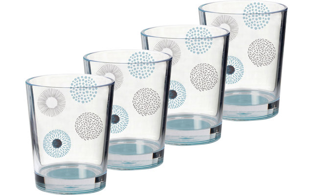 Brunner Acryl Trinkglas Deep Sea 4er Set