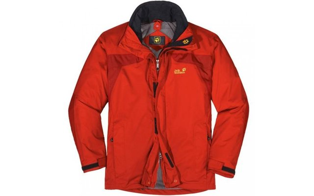 Jack Wolfskin Herren-Funktionsjacke Topaz orange