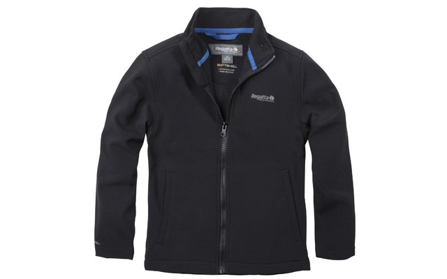 Kinder Softshelljacke Canto black