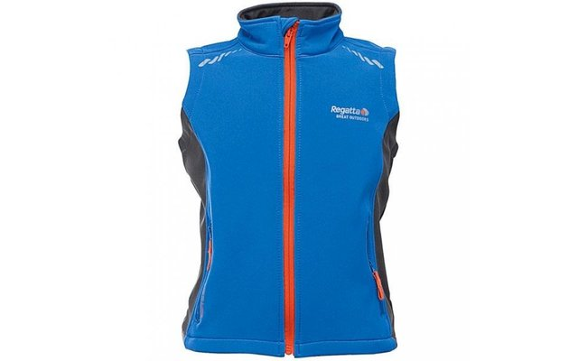 Regatta Kinder-Softshellweste Interface blau