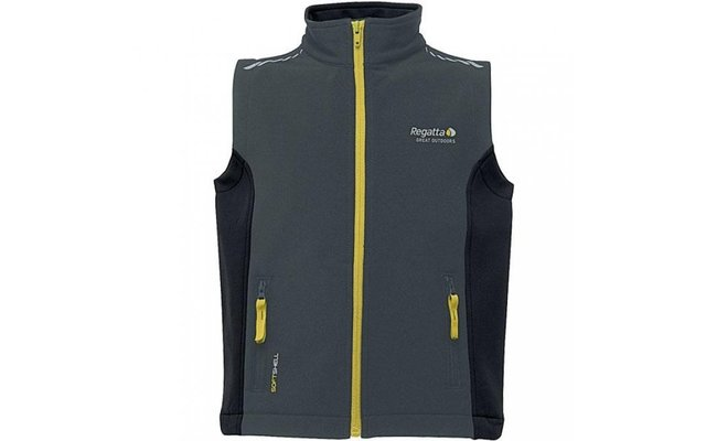 Regatta Kinder-Softshellweste Interface grau