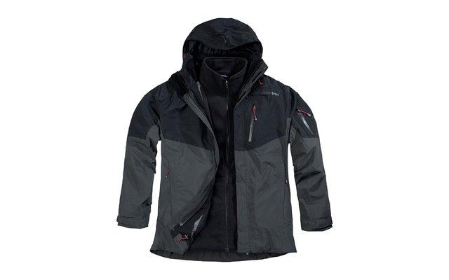 riesiges Inventar Einkaufen elegant und anmutig Schöffel Herren-Doppeljacke Brody schwarz/grau