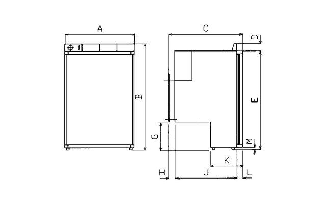 waeco kompressork hlschrank coolmatic mdc 90 fritz berger campingbedarf. Black Bedroom Furniture Sets. Home Design Ideas