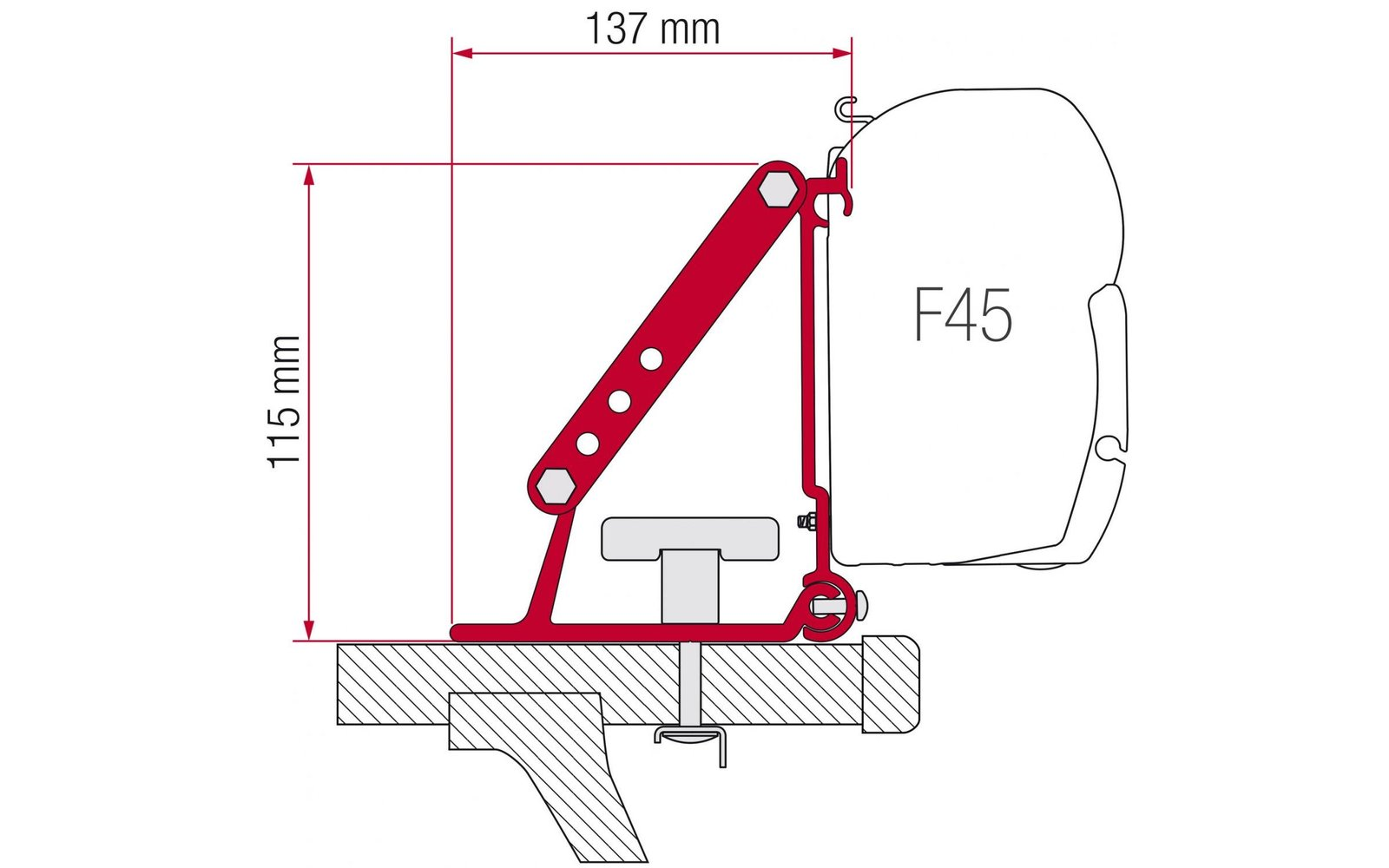 Halterungen F45 Dachmontage Fritz Berger Campingbedarf
