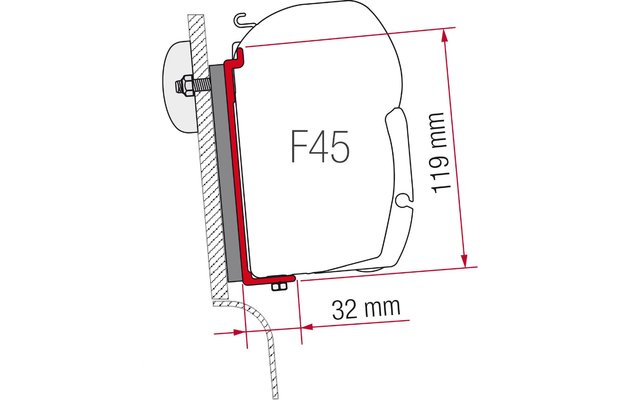 F45 Kit High Roof Adapter Westfalia