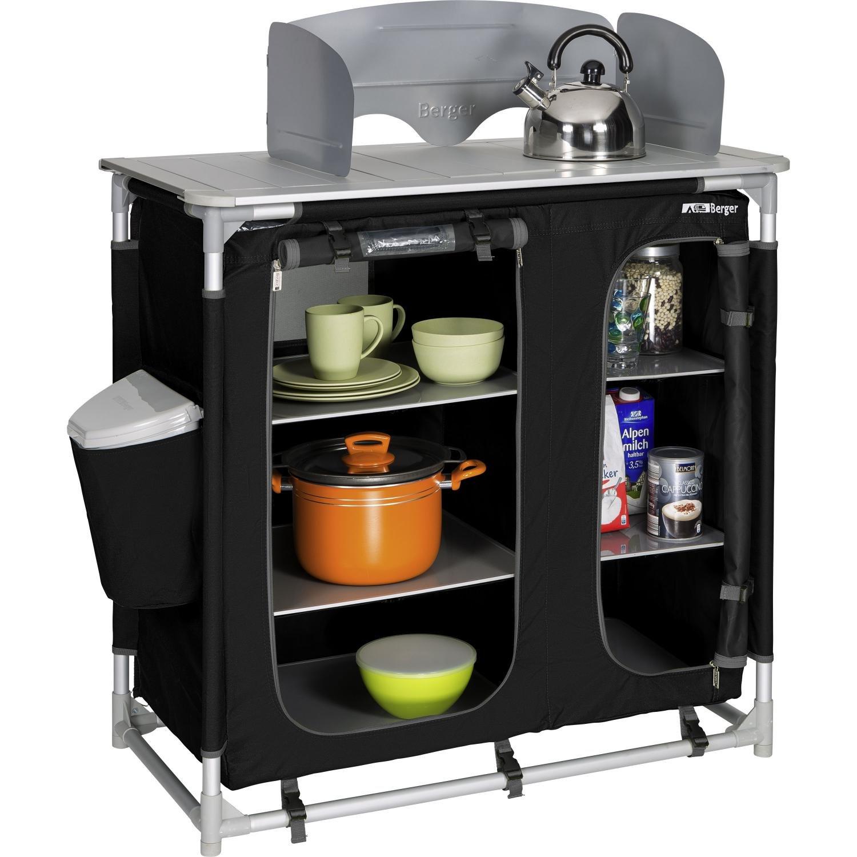 Berger Küchenbox Premium II Aufbau-schrank 95x95x53cm mit Windschutz ...