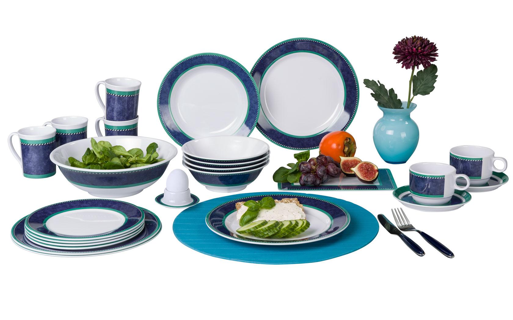 Marble blue Dessertteller | 04024374622169