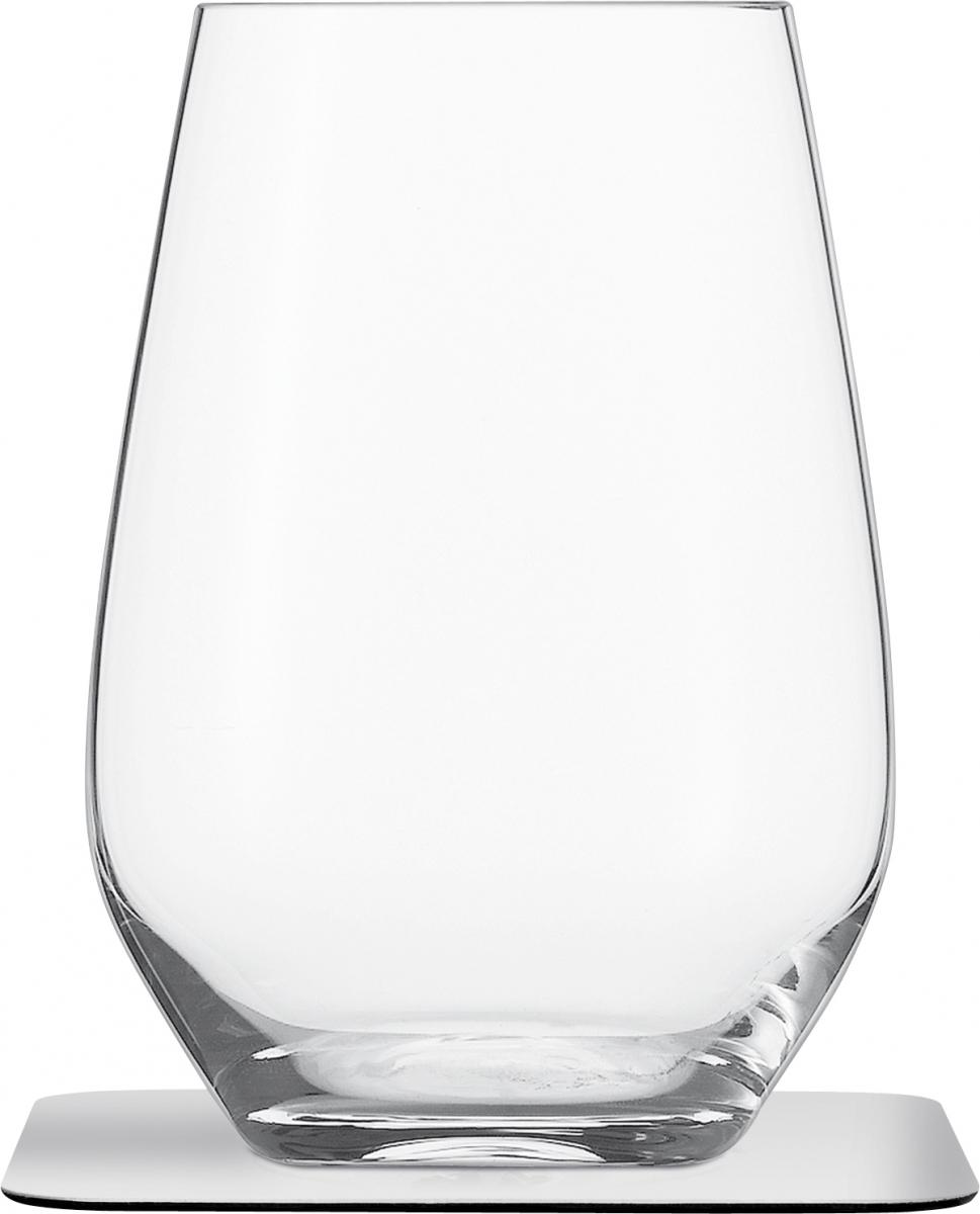 Kristall Longdrink-Magnetgläser mit Untersetzer 2er Set