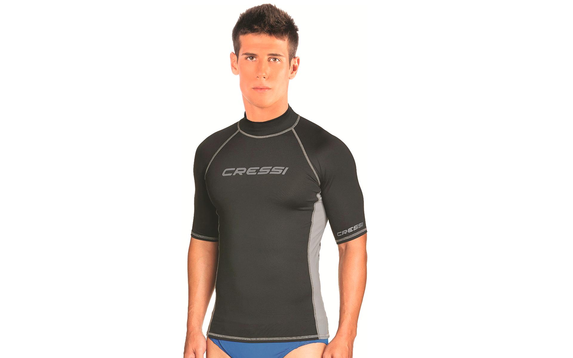 Cressi Wasser T-Shirt Herren Rash Guard schwarz - Preisvergleich
