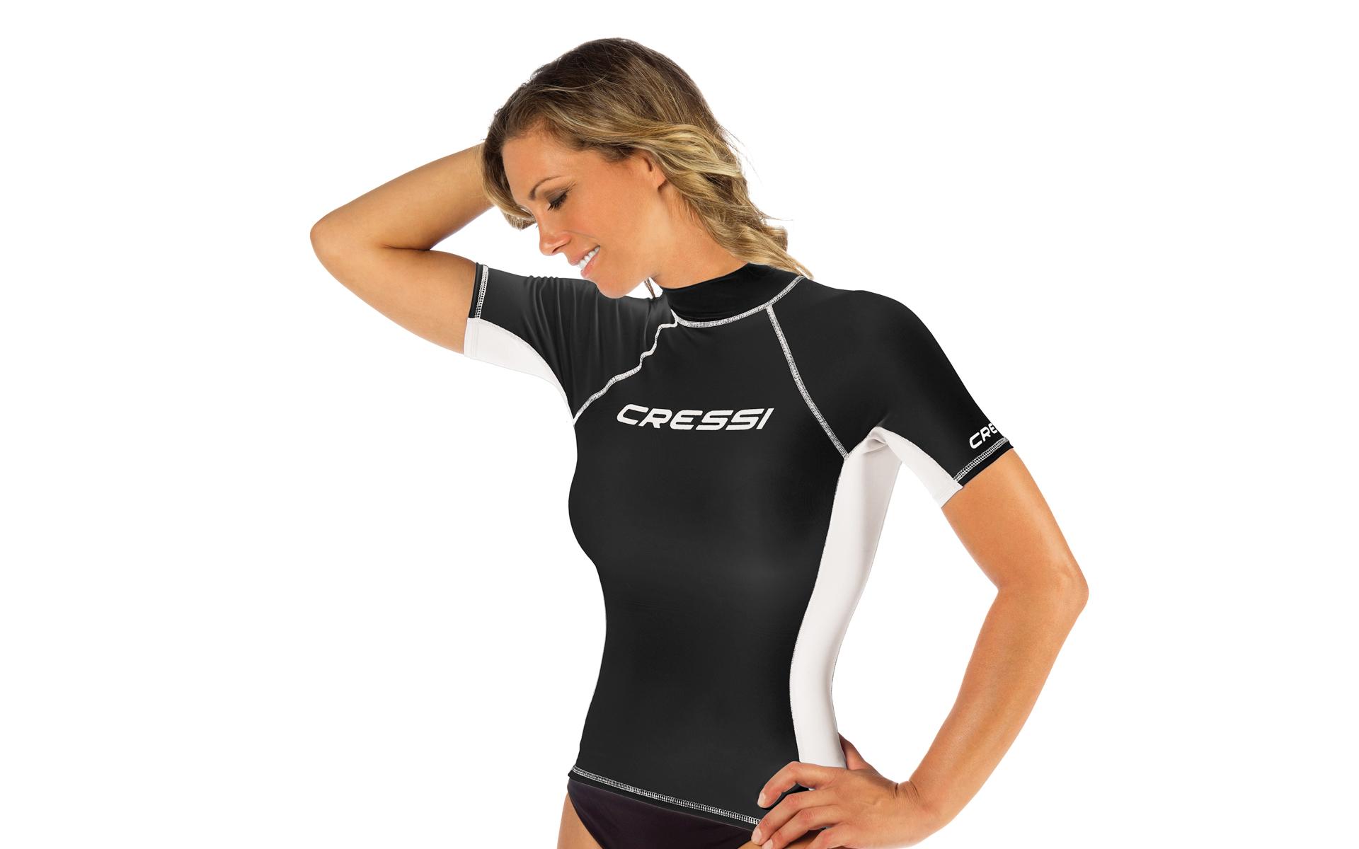 Cressi Wasser T-Shirt Damen Rash Guard schwarz - Preisvergleich