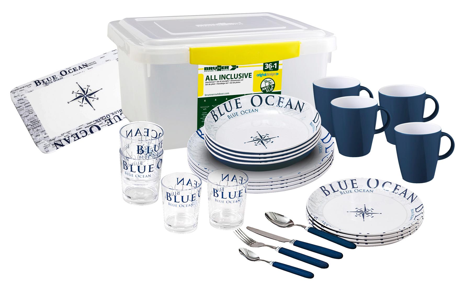 Brunner Geschirrset 38 tlg All Inclusive Blue Ocean | 08022068005829