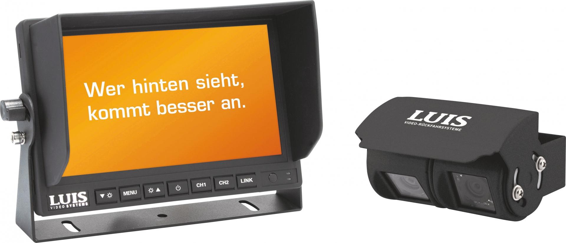 LUIS 7´´-Twin-Rückfahrsystem Professional schwarz