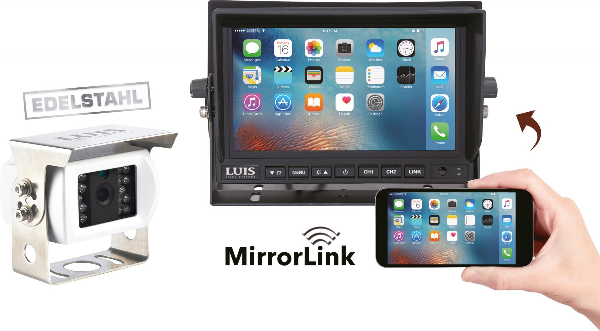 LUIS 7´´-MirrorLink-Rückfahrsystem Professional
