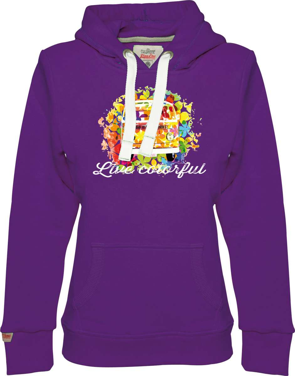 Van One Classic Cars Damen Hoodie Live Colorful | 04250904827821