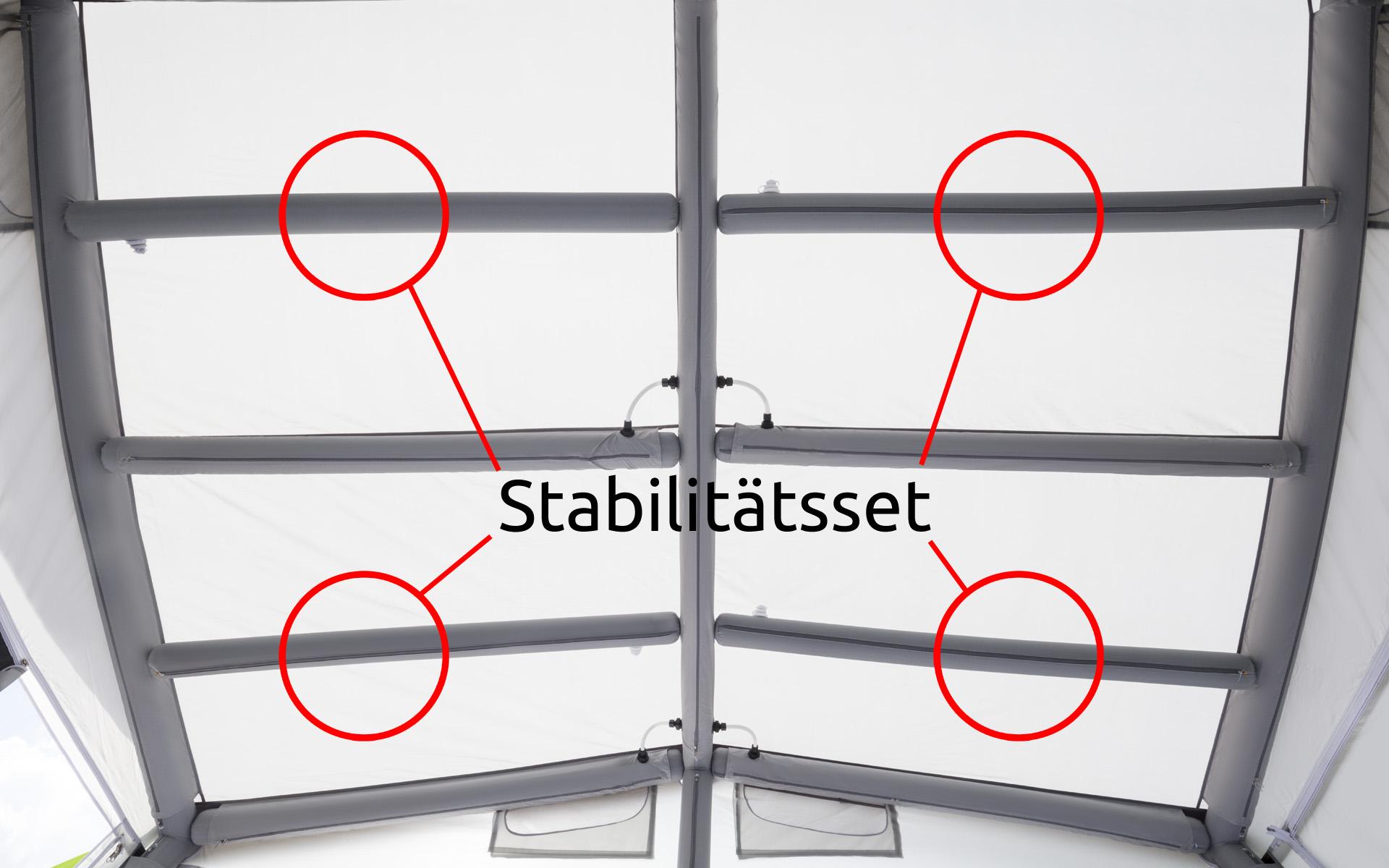Berger Stabilitätsset für Reisevorzelt Sirmione-L Deluxe | 04036231059728