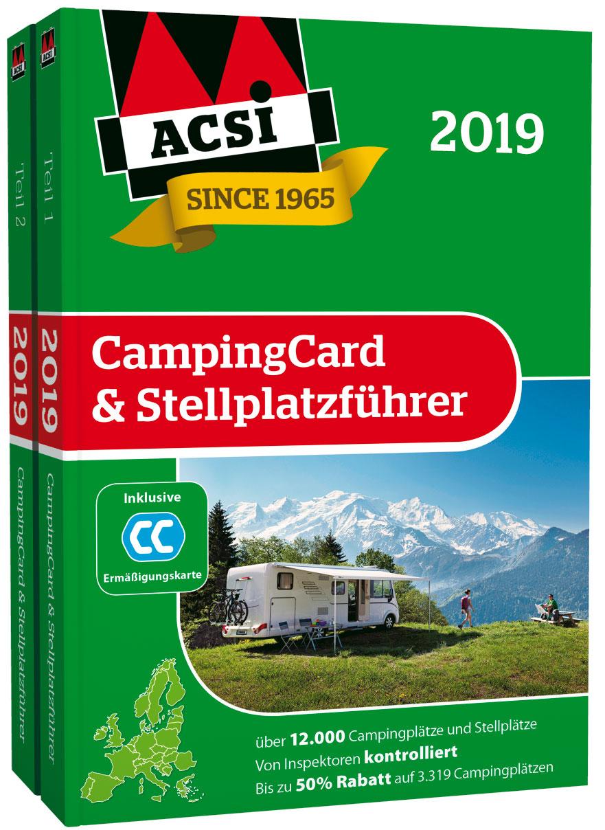 ACSI CampingCard und StellplatzfĂĽhrer 2019