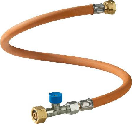 GOK Hochdruckgasschlauch 45cm / G. 1 mit Schlauchbruchsicherung für IT Liqui; CY; GR; I; M; TR