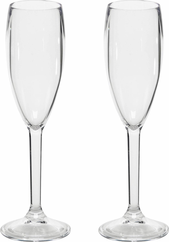 Gimex Kunststoff Sektglas 0,2 l 2er Set