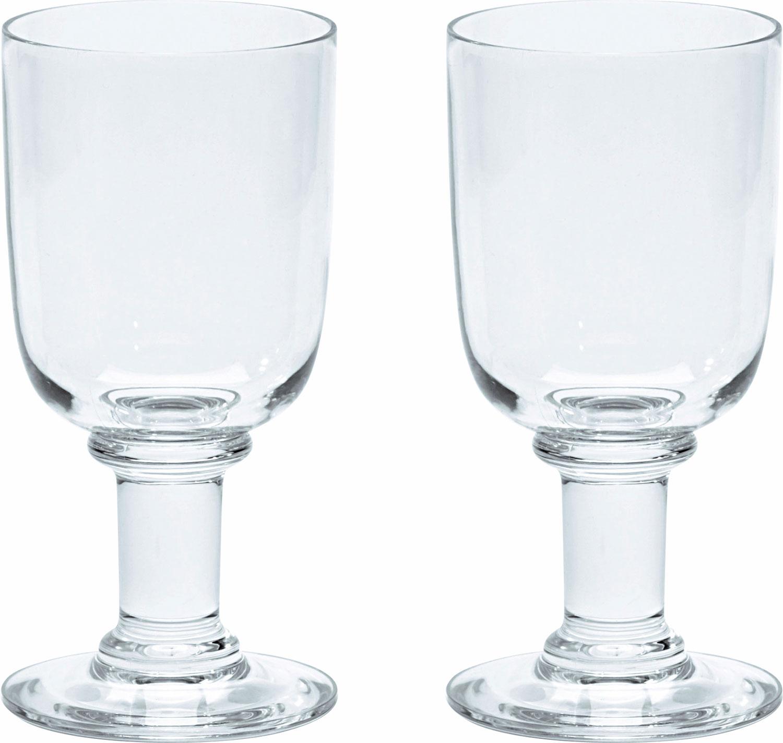 Gimex Kunststoff Rotweinglas 0,25 l 2er Set