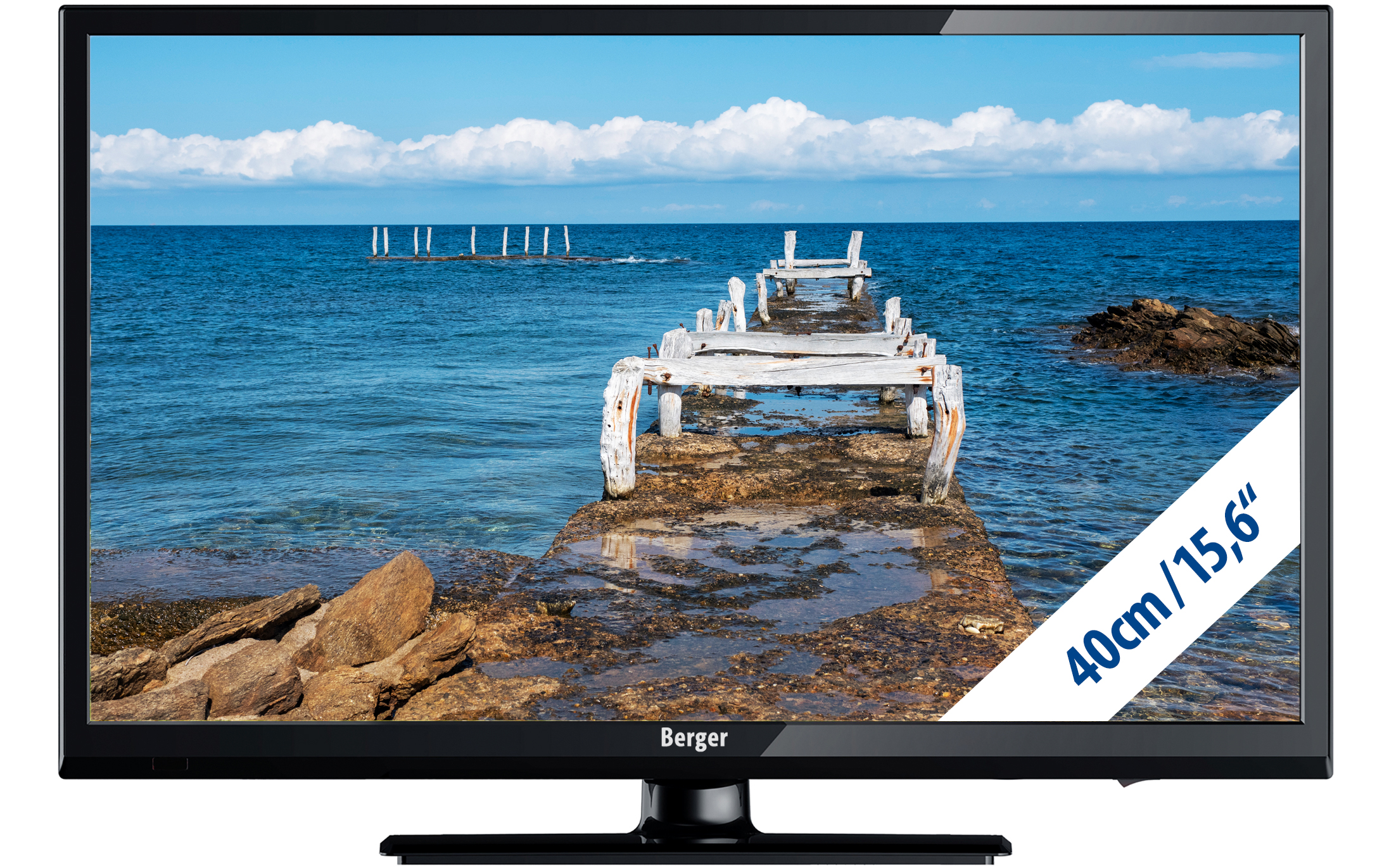 Berger Camping TV LED Fernseher 15,6 Zoll