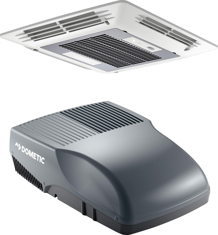 Dometic FreshJet 2000 Dachklimaanlage mit Luftverteilerbox und Fernbedienung für Reisemobile bis 6 Meter Grau