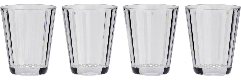 Flamefield Kunststoff Gläser Royal 4er Set 265 ml