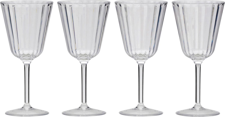 Flamefield Royal Kunststoff Weingläser 280 ml 4er Set