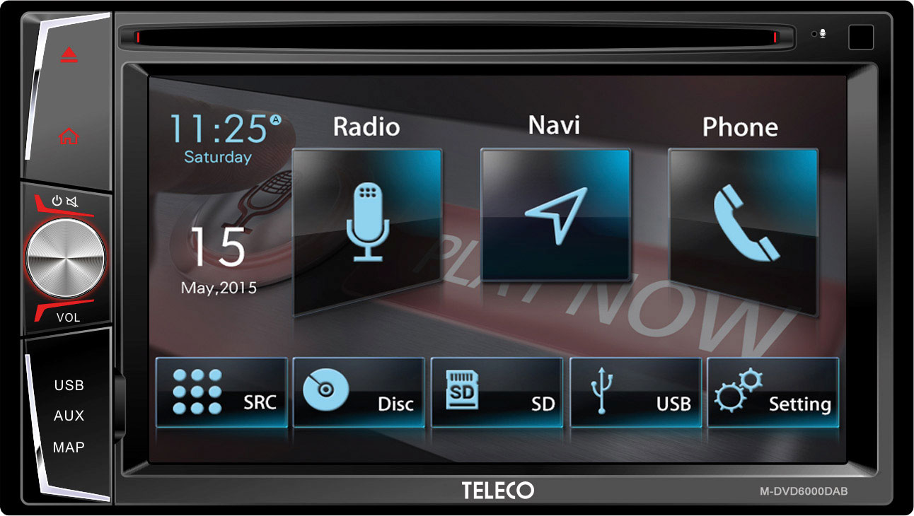 Teleco M-DVD6000 Truck DAB Navigationsgerät mit Radio
