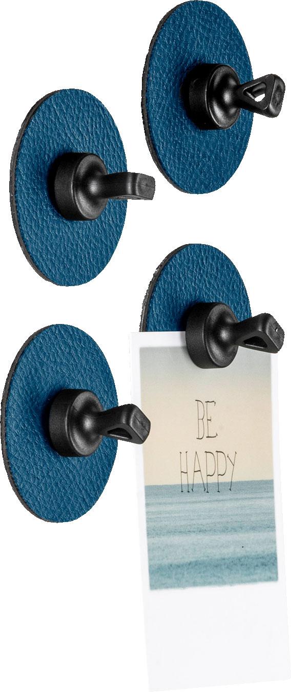 Silwy Flex Magnethaken inkl. Metall-Nano-Gel-Pads 5 cm 8-tlg. blau