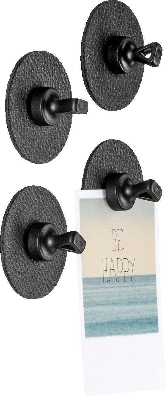 Silwy Flex Magnethaken inkl. Metall-Nano-Gel-Pads 5 cm 8-tlg. schwarz