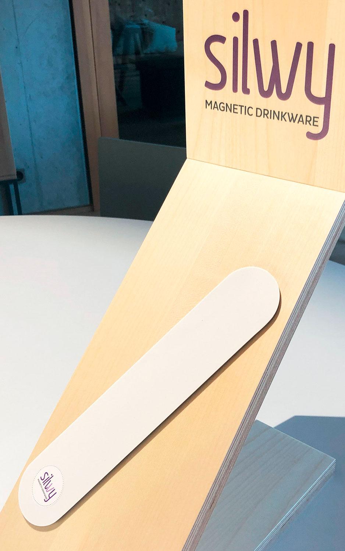 Silwy Magnet Metall-Leiste 25 cm weiss