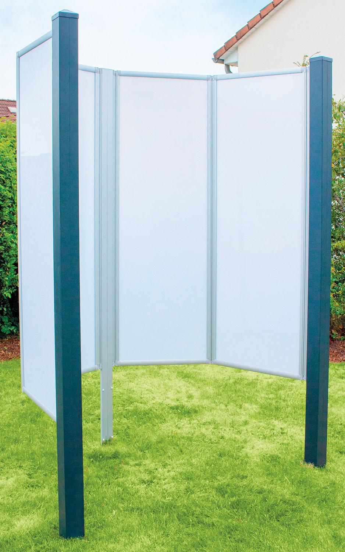 Breuer Fara-O faltbare Gartendusche / Outdoordusche offen silber matt