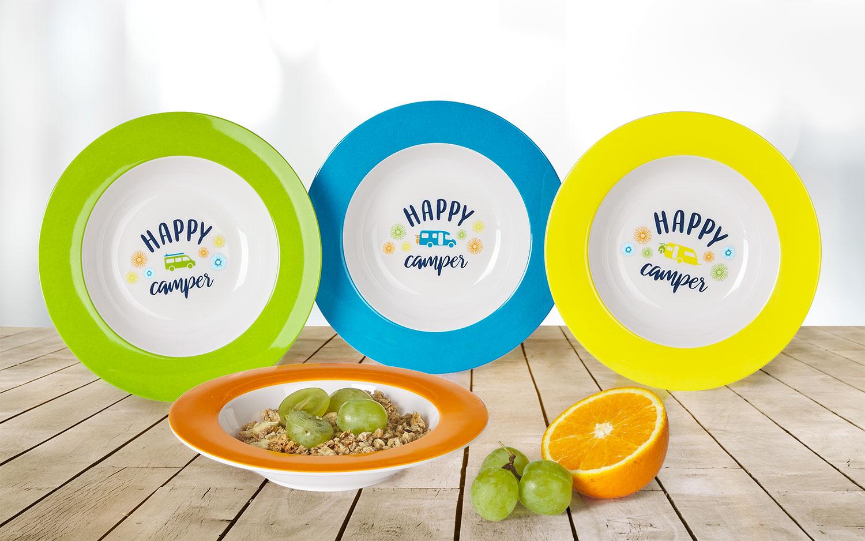 Berger Happy Camper Melamin Suppenteller-Set 4tlg.
