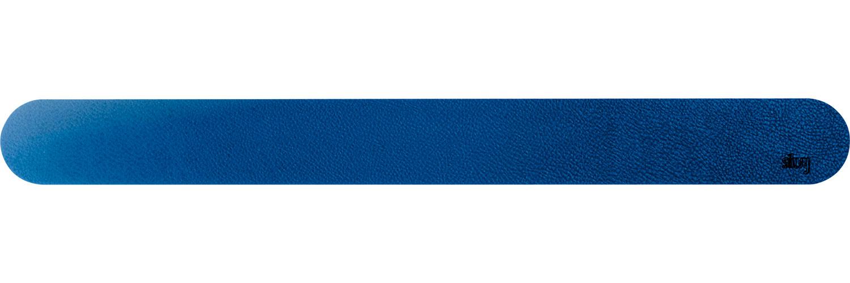Silwy Magnet Metall Leiste mit Ledercoating 50 cm blau