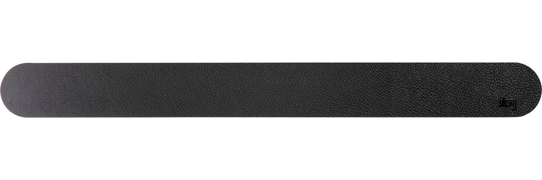Silwy Magnet Metall Leiste mit Ledercoating 50 cm schwarz
