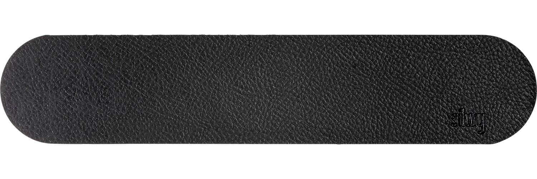 Silwy Magnet Metall-Leiste 25 cm mit Ledercoating black