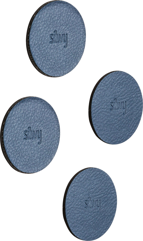 Silwy Magnet-Pads 5 cm 4er Set blau