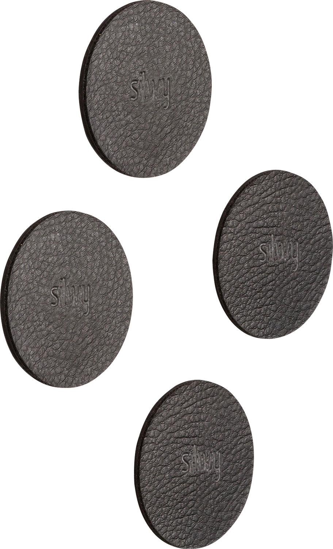 Silwy Magnet-Pads 5 cm 4er Set schwarz