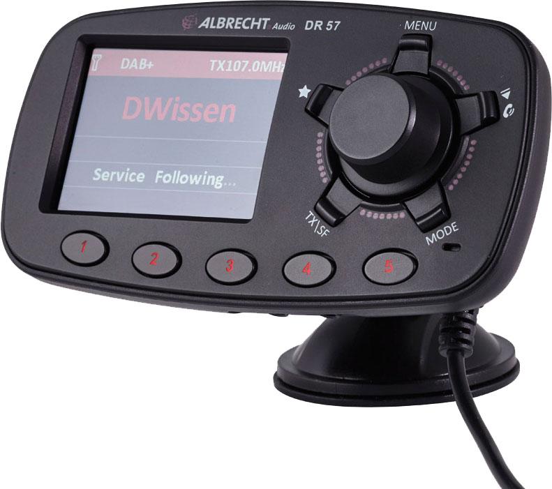 Albrecht  DR57 DAB+ Autoradio-Adapter mit Freisprecheinrichtung