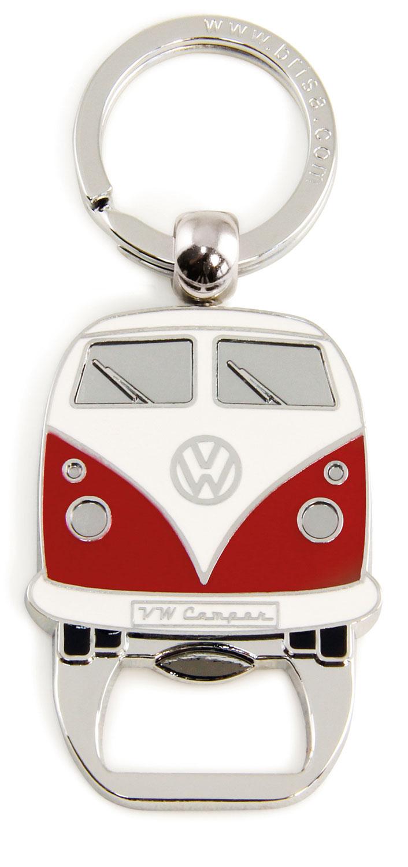 VW Collection T1 Bulli Schlüsselanhänger mit Flaschenöffner Rot