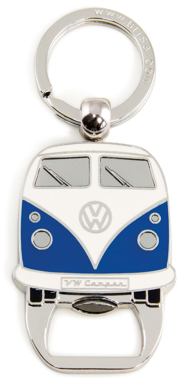 VW Collection T1 Bulli Schlüsselanhänger mit Flaschenöffner Blau