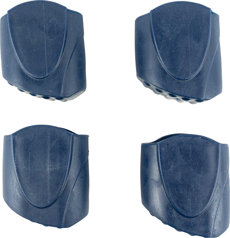 Satz Fußkappen 4-Bein-Stuhl blau