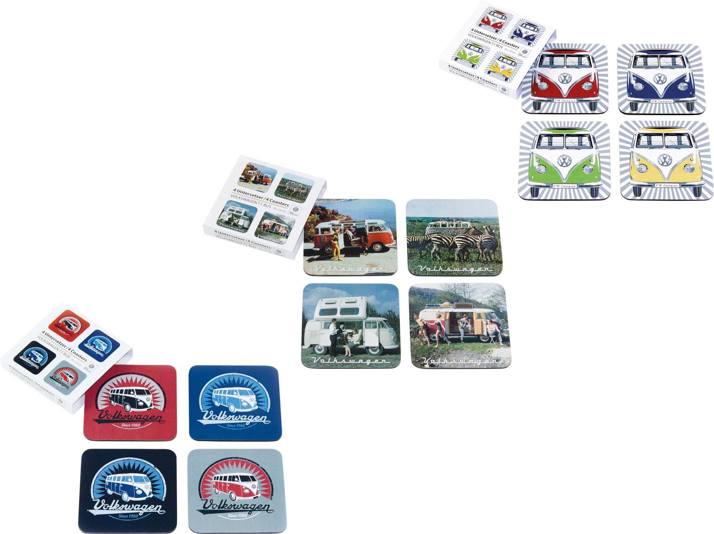 VW Collection T1 Bus Untersetzer 4er Set Bunt