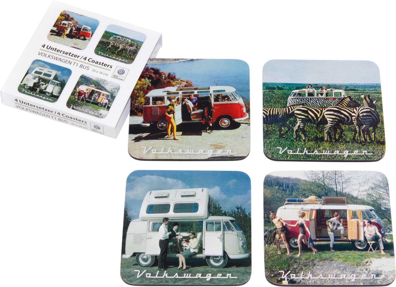 VW Collection T1 Bus Untersetzer 4er Set Szenerie