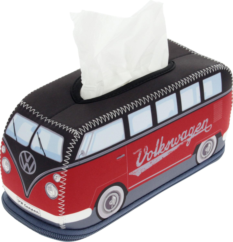 VW Collection T1 Bus 3D Neopren Kosmetikspender  rot / schwarz