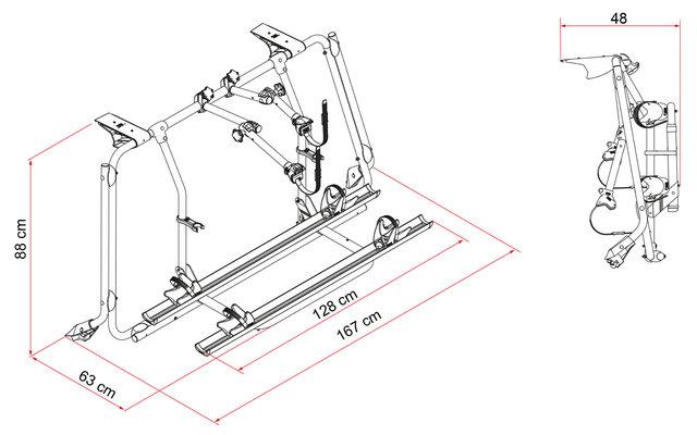fiamma fahrradtr ger carry bike vw t6 fritz berger. Black Bedroom Furniture Sets. Home Design Ideas
