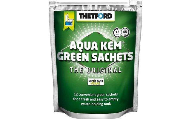 thetford aqua kem green sachets fritz berger campingbedarf. Black Bedroom Furniture Sets. Home Design Ideas